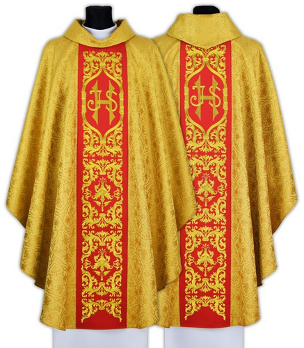 Gothic Chasuble IHS model 589