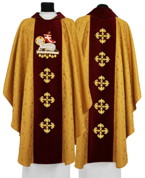 Gothic Chasuble Lamb of God model 604