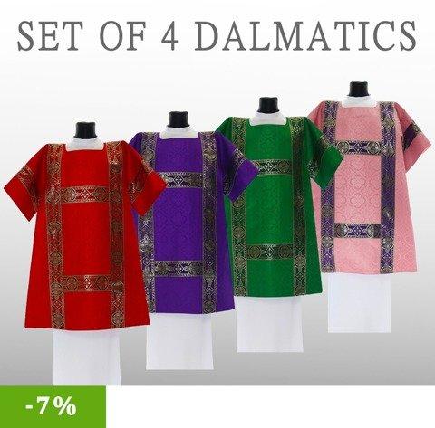 Set of 4 Roman Dalmatics model 201