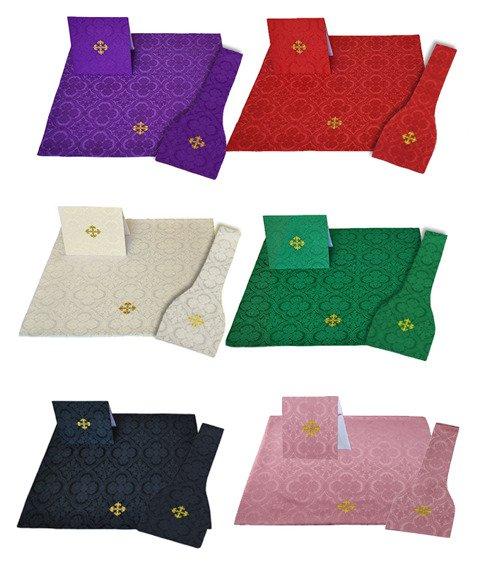 Set of Burse, maniple and chalice veil