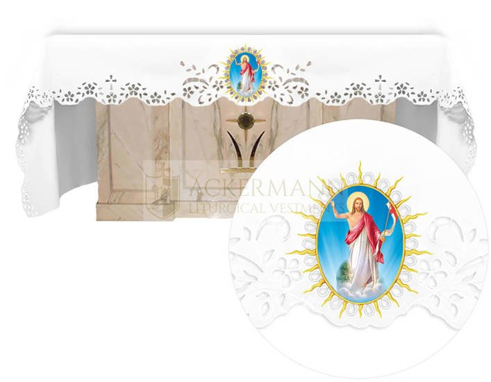 Altar cloth - Openwork with an Easter theme 737