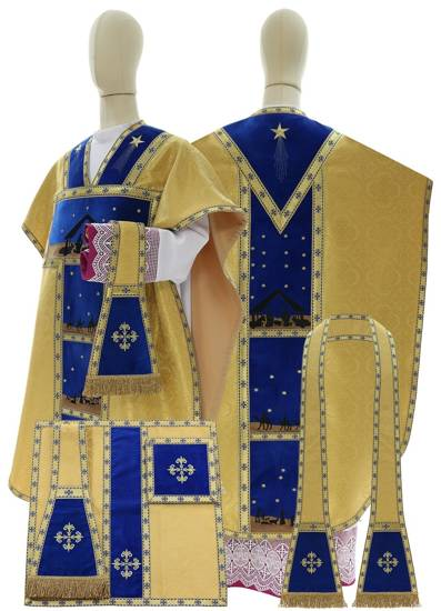Gold Chasuble St. Philip Neri Christmas time