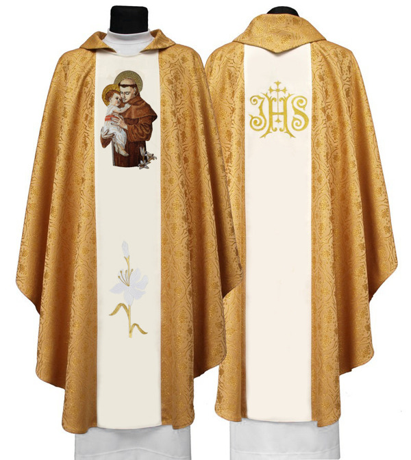 Gothic Chasuble St Anthony of Padua model 414