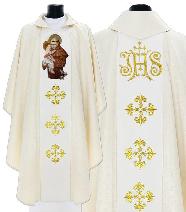 Gothic Chasuble St Anthony of Padua model 421