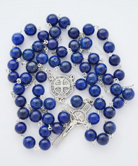 Rosary with blue stone Lapis Lazuli