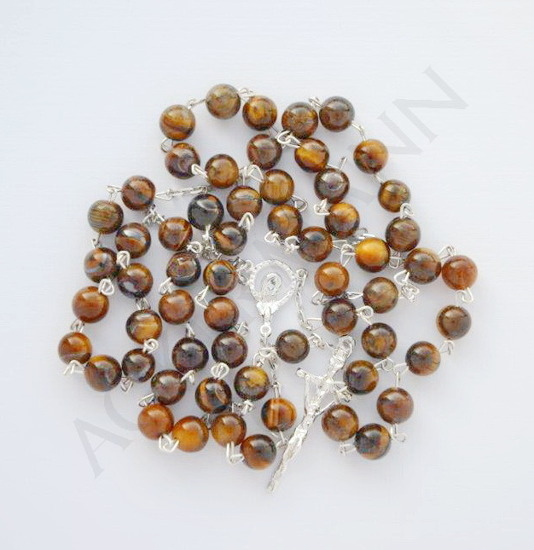 Silver Rosary Tiger's Eye