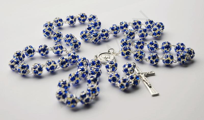 Swarovski Crystal Rosary sapphire