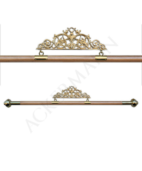 Wood Hanger with brass finish for Banners (G)