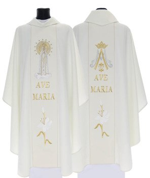 Gothic Chasuble Our Lady of Fatima model 728