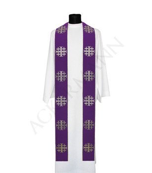 Gothic Stole Jerusalem crosses model 103