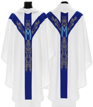 Marian Semi Gothic Chasuble model 563