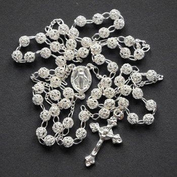 Silver Rosary openwork