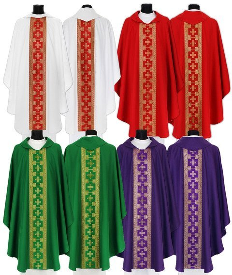Set of 4 Gothic Chasubles model 017