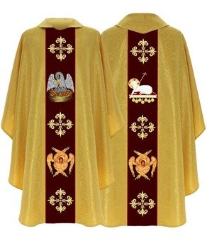 Green Gothic Chasuble Pelican model 792