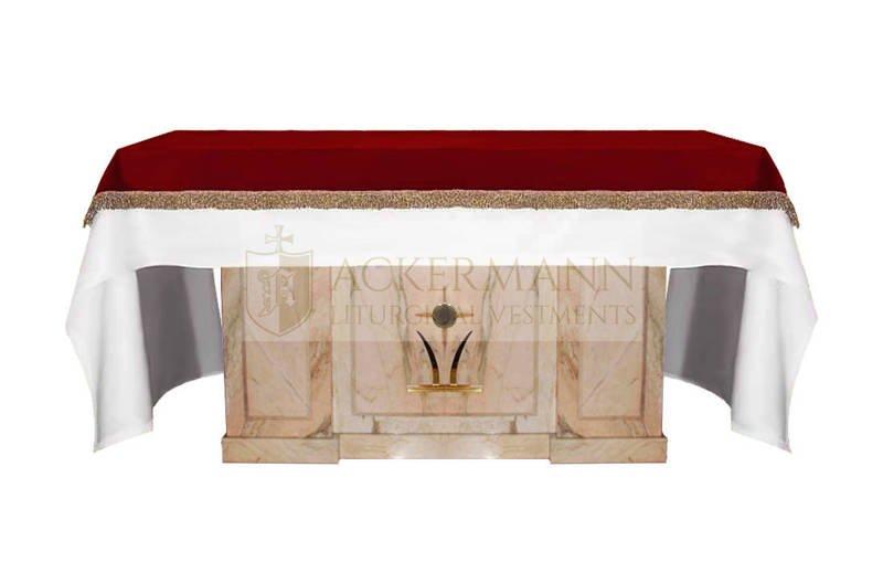 Copertura per l'altare in velluto